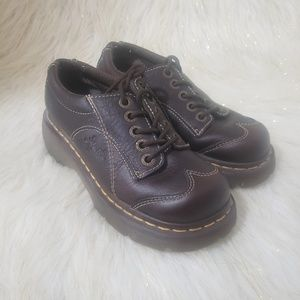 Dr. Martens Brown Wing Tip Shoes Size 5